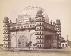 General view from the north-east of the Gol Gumbaz or Tomb of Sultan Muhammad, Bijapur